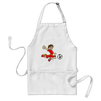 SOCCERBOY RED ADULT APRON