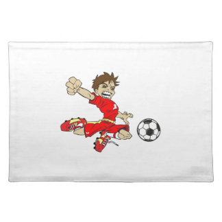 SOCCERBOY RED PLACEMAT