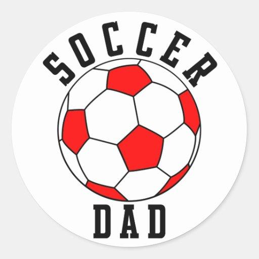 SoccerChick Family Classic Round Sticker