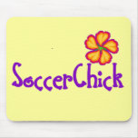 SoccerChick FlowerDark Mouse Pad