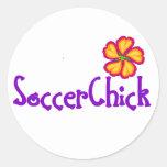 SoccerChick FlowerDark Sticker