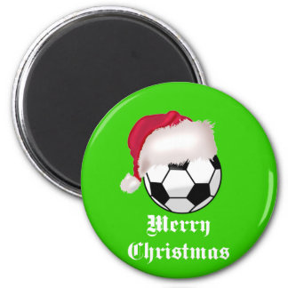 SoccerChick Merry Christmas 2 Inch Round Magnet