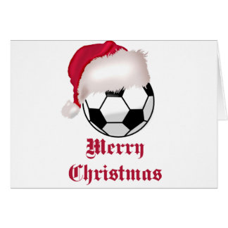 SoccerChick Merry Christmas Greeting Card