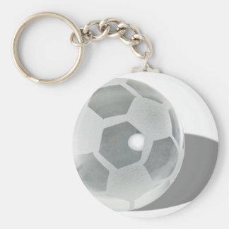 SoccerCrystalBall092110 Basic Round Button Keychain