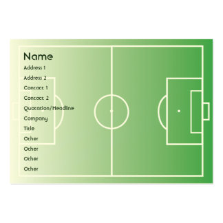 Soccerfield - rechoncho tarjetas de visita grandes