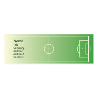 Soccerfield - Skinny Double-Sided Mini Business Cards (Pack Of 20)