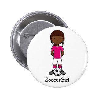 SoccerGirl Pin Redondo De 2 Pulgadas