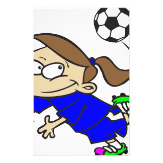 SOCCERGIRL TOON BLUE STATIONERY