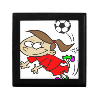 SOCCERGIRL TOON RED GIFT BOX