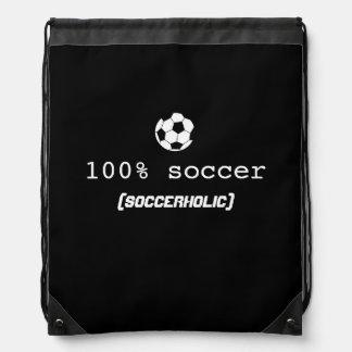 Soccerholic drawstring bag