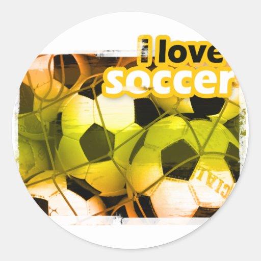 SocceriGuide Striker Classic Round Sticker