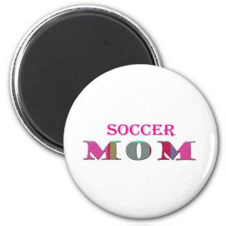 SoccerMom 2 Inch Round Magnet