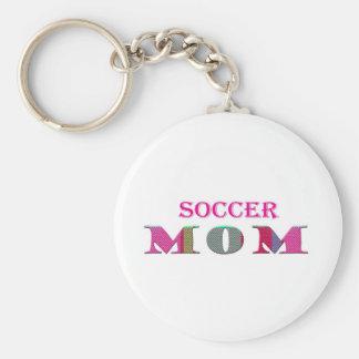 SoccerMom Basic Round Button Keychain