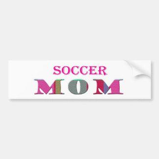 SoccerMom Pegatina De Parachoque