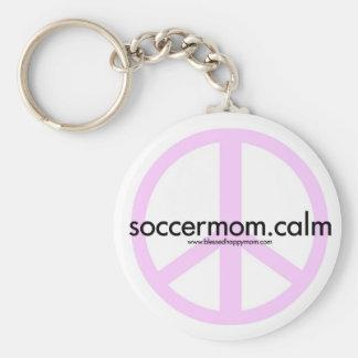Soccermom.calm Basic Round Button Keychain