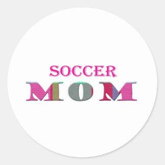 SoccerMom Pegatina Redonda