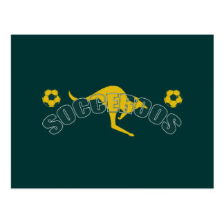 Socceroos fans Kangaroo logo and balls gifts Postcard