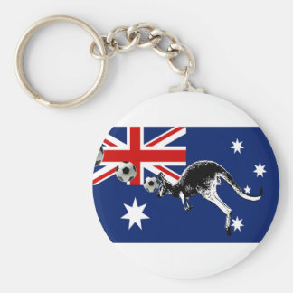 socceroos flag of Australia gifts Basic Round Button Keychain