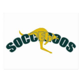 Socceroos kangaroos logo for Australians Postcard