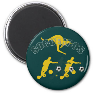 Socceroos soccer players Bend it Kangaroo gifts Magnets