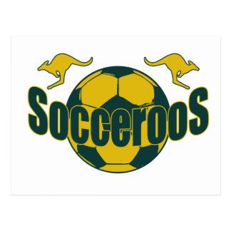 Socceroos world soccer Roos logo gifts Postcard