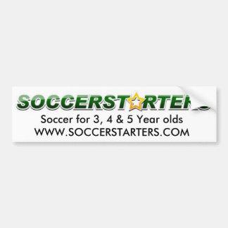 soccerstarterslogo, fútbol para el ol de 3, 4 y 5  pegatina para auto