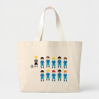 SoccerTeam10 Large Tote Bag