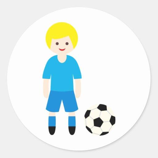 SoccerTeam6 Pegatina Redonda