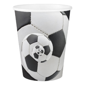 Soccor Ball Droste Spiral Paper Cups