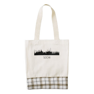 Sochi Russia Cityscape Zazzle HEART Tote Bag