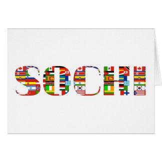 Sochi Tarjeta De Felicitación