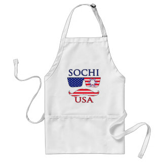 Sochi USA snowflake Adult Apron