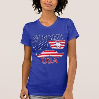 Sochi USA snowflake T Shirts
