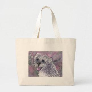 Sociable Schnauzer dog Canvas Bag