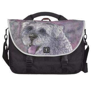 Sociable Schnauzer dog Laptop Computer Bag