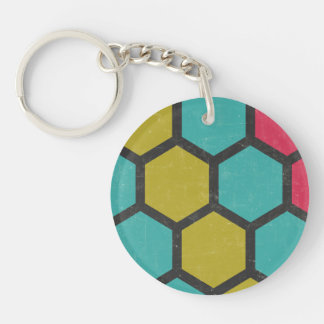Sociable Sensible Persistent Willing Double-Sided Round Acrylic Keychain