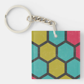 Sociable Sensible Persistent Willing Double-Sided Square Acrylic Keychain