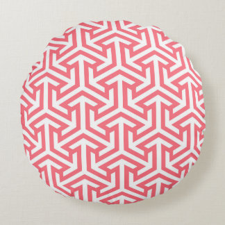Sociable Virtuous Self-Disciplined Witty Round Pillow