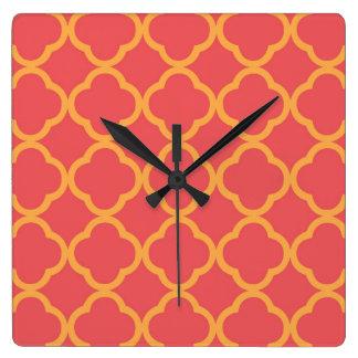 Sociable Wondrous Resounding Protected Square Wall Clock