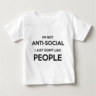 Social anti People.png Playera De Bebé