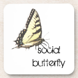 Social Butterfly Drink Coasters