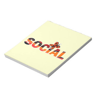 Social butterfly memo note pad
