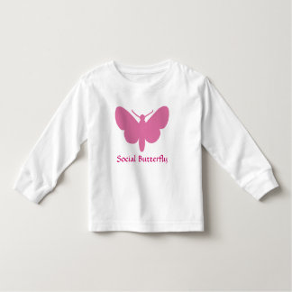 social butterfly toddler t-shirt