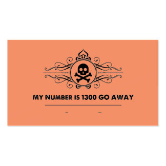"""Social Cards: """"My Number is 1300 GO AWAY"""" Business Card"""