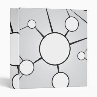 Social Circles Diagram Design 3 Ring Binder