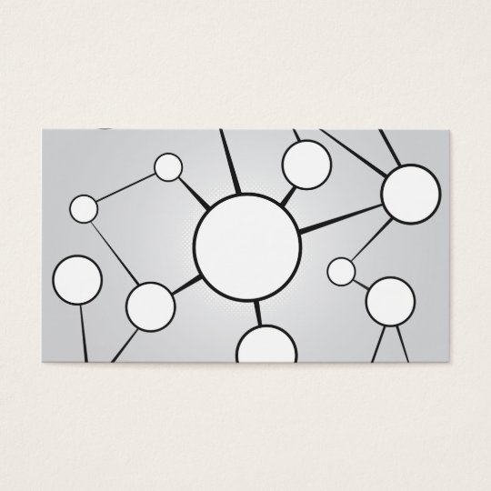 Social Circles Diagram Design Business Card
