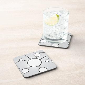 Social Circles Diagram Design Drink Coaster