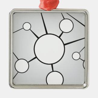 Social Circles Diagram Design Metal Ornament