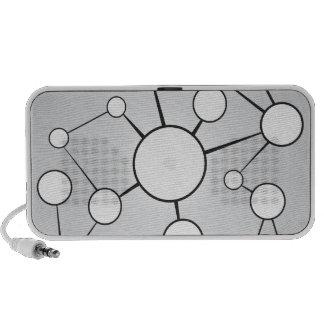 Social Circles Diagram Design Mini Speakers