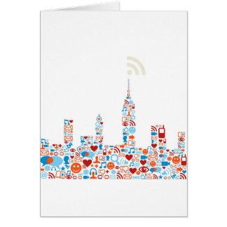 Social City Shape Greeting Card